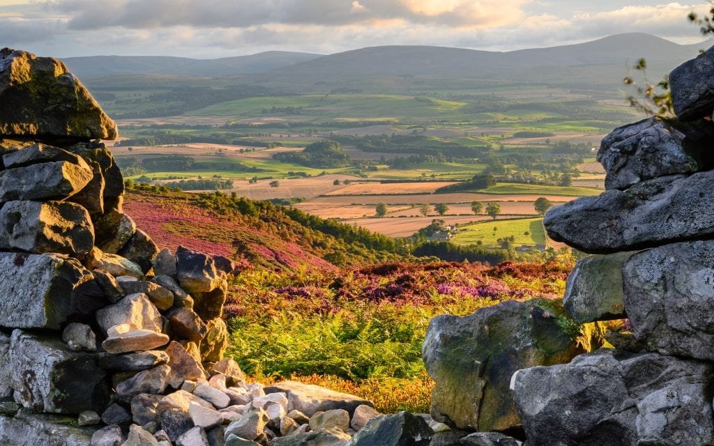 Stunning views from Ros Castle in little-known Glendale to the Cheviot Hills